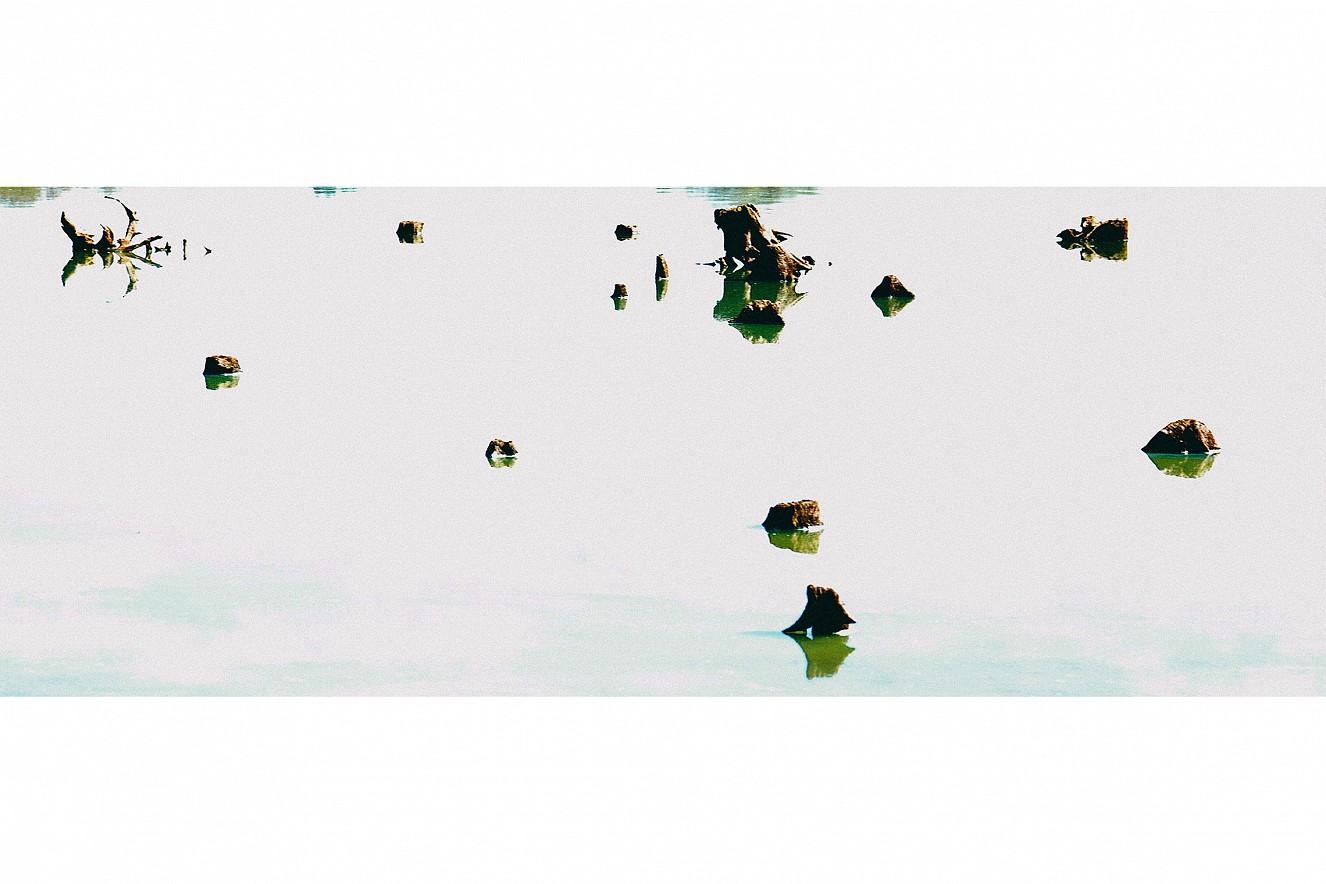 Offramp I  Chromira pearl on Aludibond  50x130 cm, 2007/2019