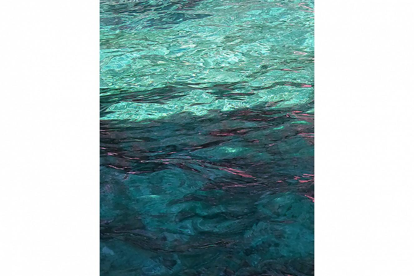 Water Shadow I  Chromira pearl on Aludibond  90x70 cm, 2019