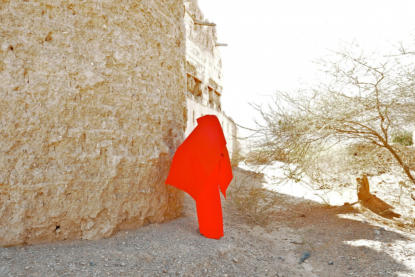 W_oman Desert Red III  40x60 cm, Chromira pearl on Aludibond, 2011/2019