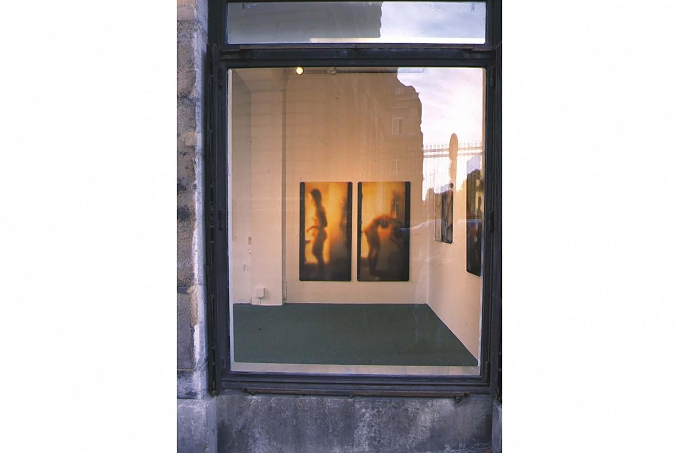 Spiegelstadium I, II - Akte - Einblick  Fotos auf Leinwand, je 175x90 cm  Galerie Condé, Goethe Institut, Paris, 1996