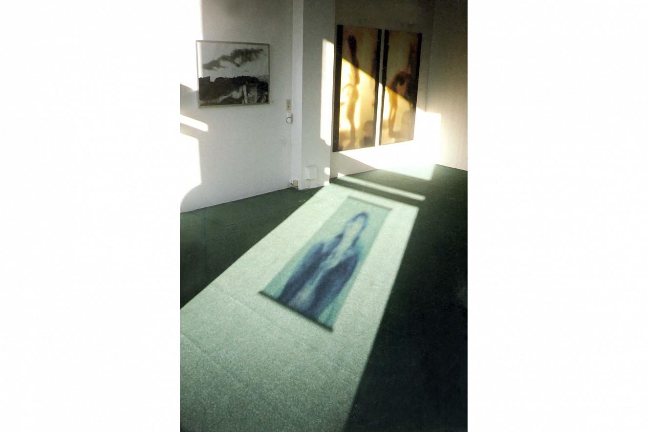 Spiegelstadium I, II und Les Arènes des Lutèces,   Fotos auf Leinwand, je 175x90 cm, 70x100 cm  Galerie Condé, Goethe Institut, Paris, 1996
