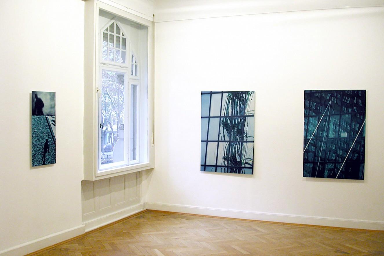 Läufer und Residence (T)Raum und Facade Blue  30x15cm, und je 130x90 cm Fine Art print metallic   Galerie Erhard Witzel Wiesbaden, Exchange Places
