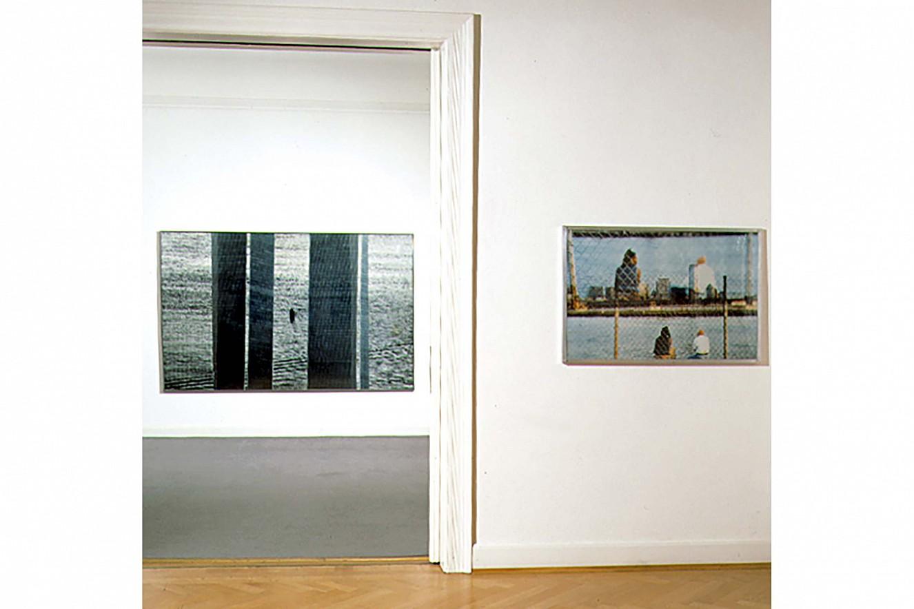 WTC (World Trade Center) und Zurück- Bleiben  150x200 cm, und 70x100 cm, Fine Art Prints/Glas  Galerie Erhard Witzel Wiesbaden, Exchange Places