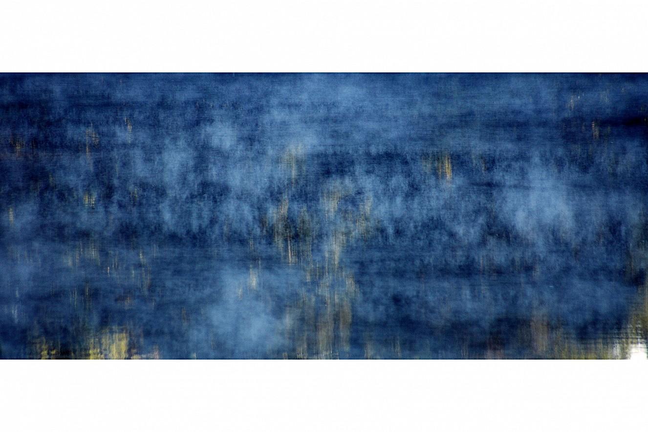 Halensee- Fog Blue  75x180 cm, Fine Art print unter Glas  auf Aludibond, Serie Dunst/Halensee