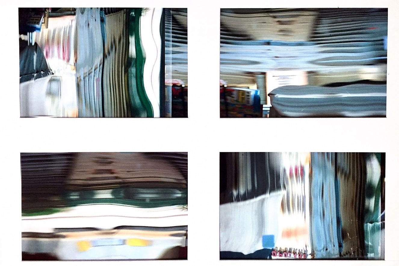 Opolare Spiegelungen  Iris Glicée Druck auf Torchon, 100x130cm,   Glas im Holzrahmen, 2003/2019