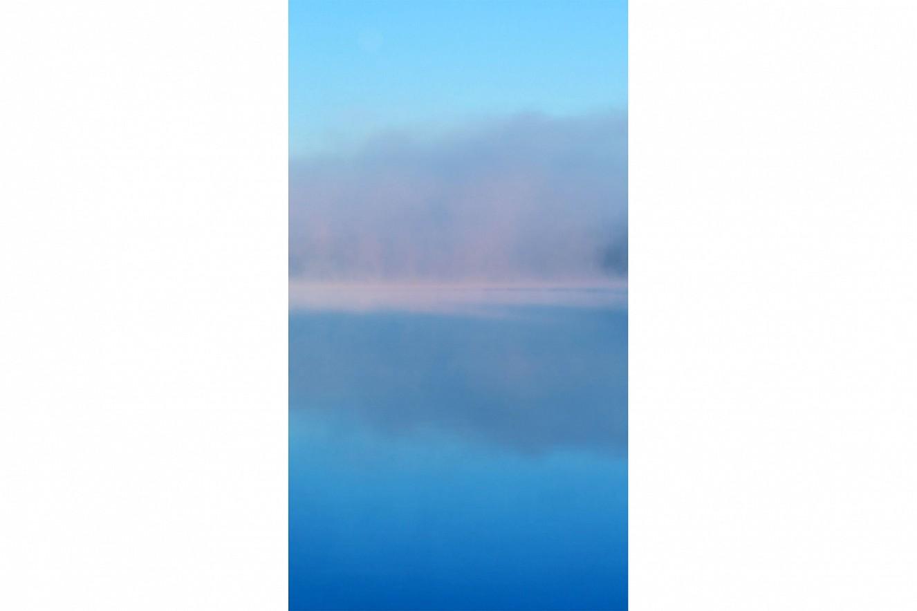 Bleu  90x50 cm, Fine Art print under glass  on Aludibond, Serie Dunst