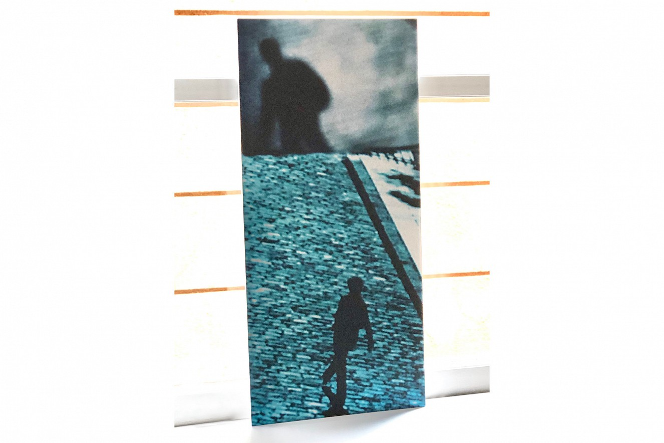 Läufer   30x15cm, Fine Art print metallic   auf Cappamount, Serie Double Jeu