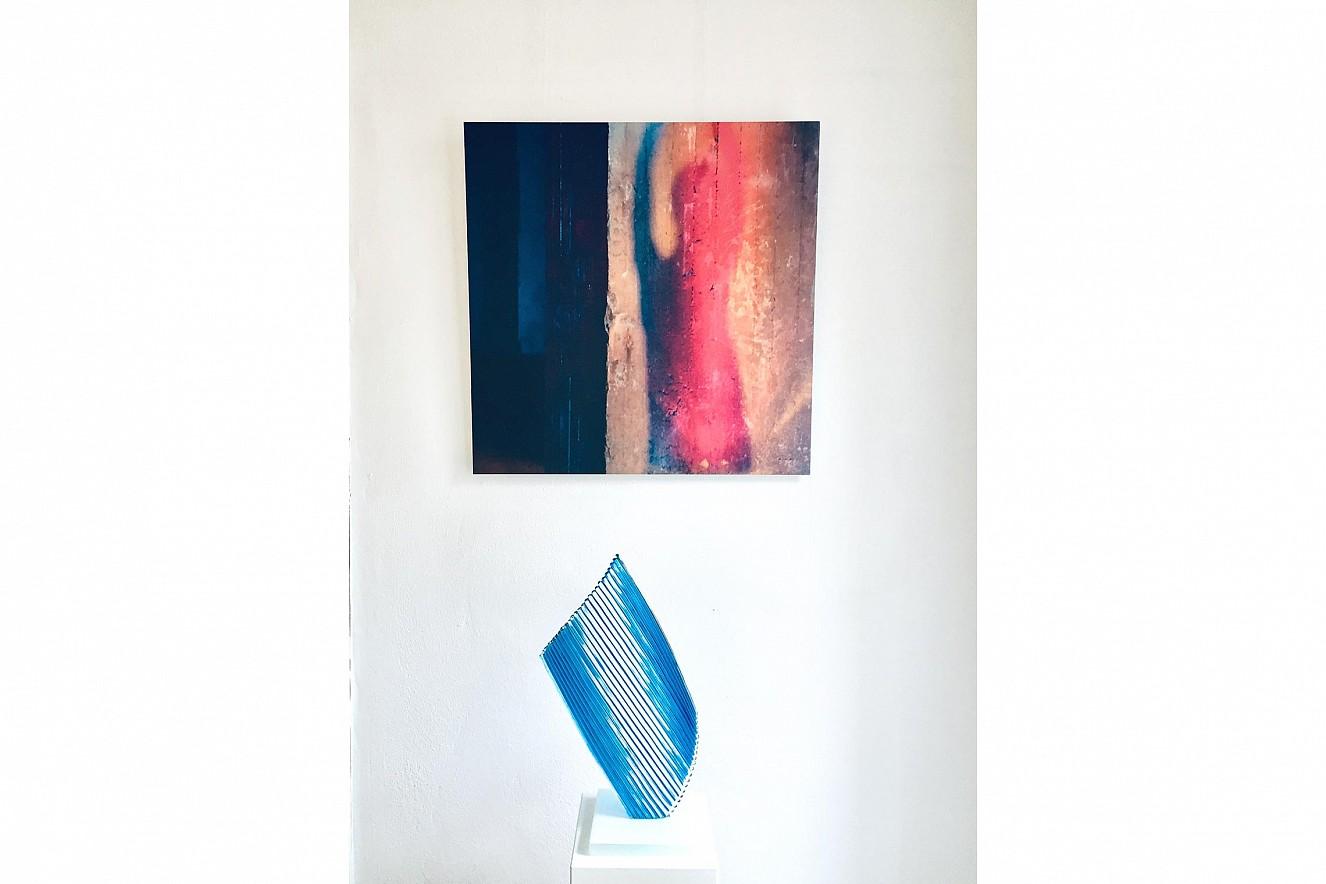 Tangente 90x90 cm, Fine Art Print Metallic on Aludibond Galerie M.concept raum+design, Potsdam, 2020