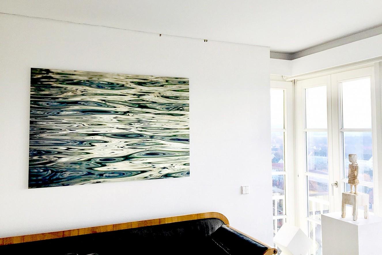 Liquid green  90x130 cm, Fine Art Print Metallic on Aludibond  Galerie Karin Melchior, Kassel, Privatbesitz