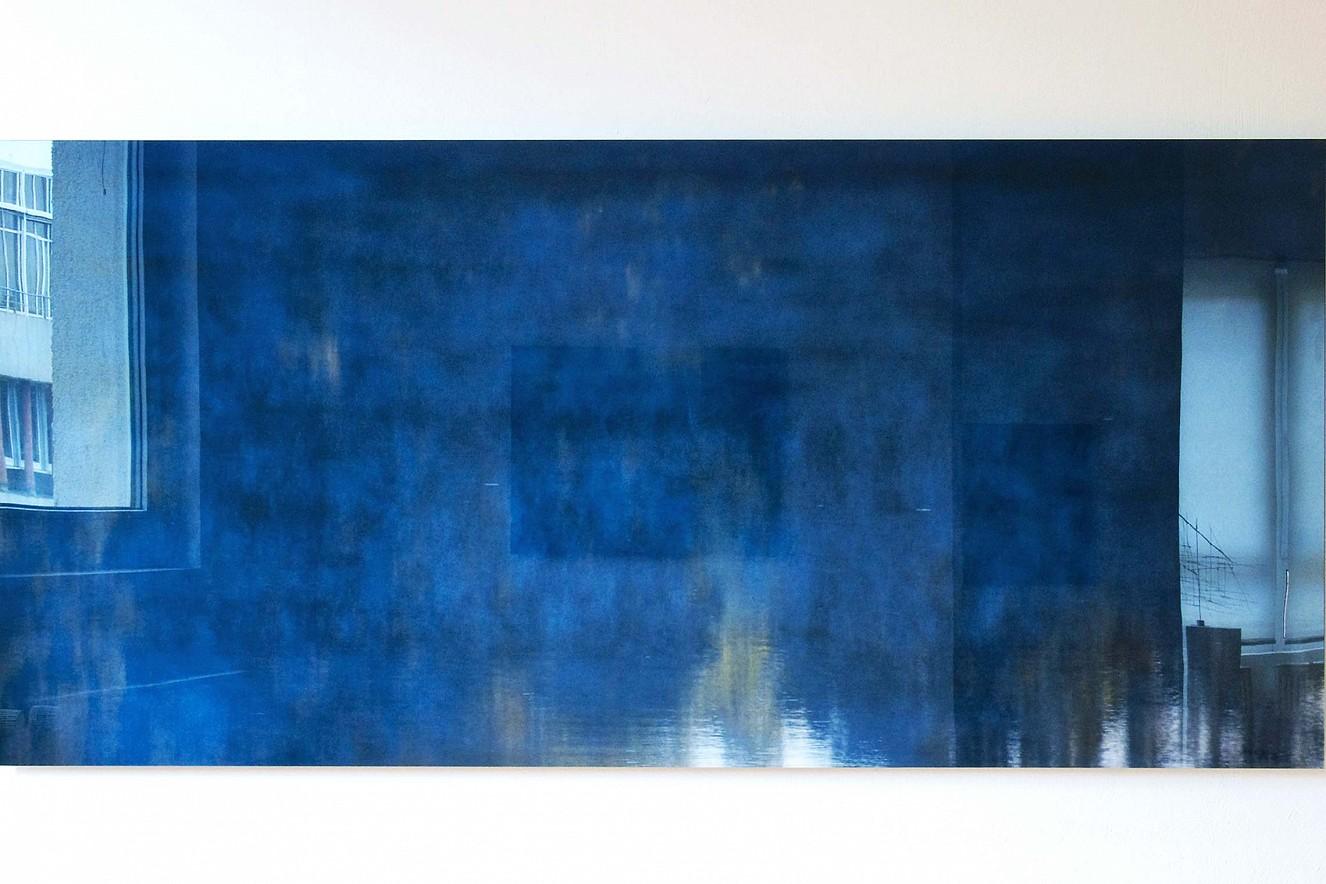 Halenfog blue  Fine art Print metallic on Aludibond   under glass 75x180 cm, Galerie Bergner & Job