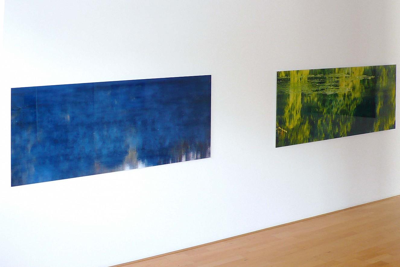 Halenfog blue and Halenfog green  Fine art Print metallic on Aludibond   each 75x180 cm, under glass Galerie Bergner& Job