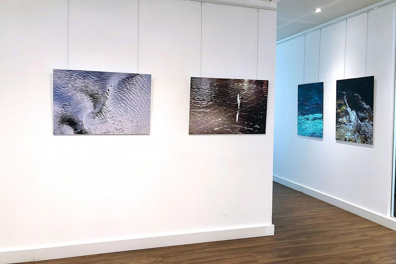 Lichte Wasser  Ausstellung Entrée  Deutscher Fondsverband BVI  Berlin Unter den Linden, 2019