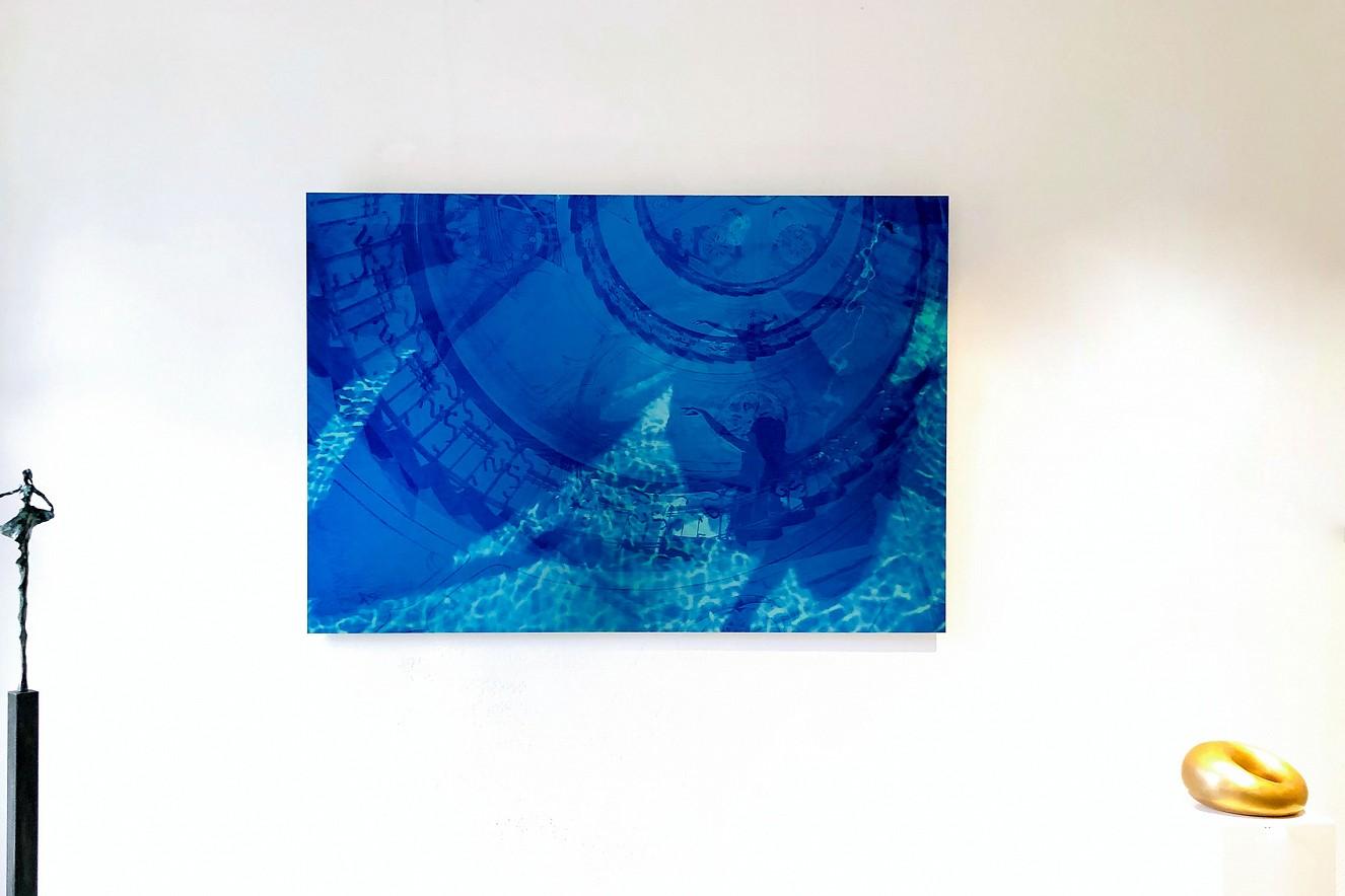 Stairs Very Blue  Fine Art Print Metallic on Aludibond  90x130cm, Galerie M.Concept raum+design