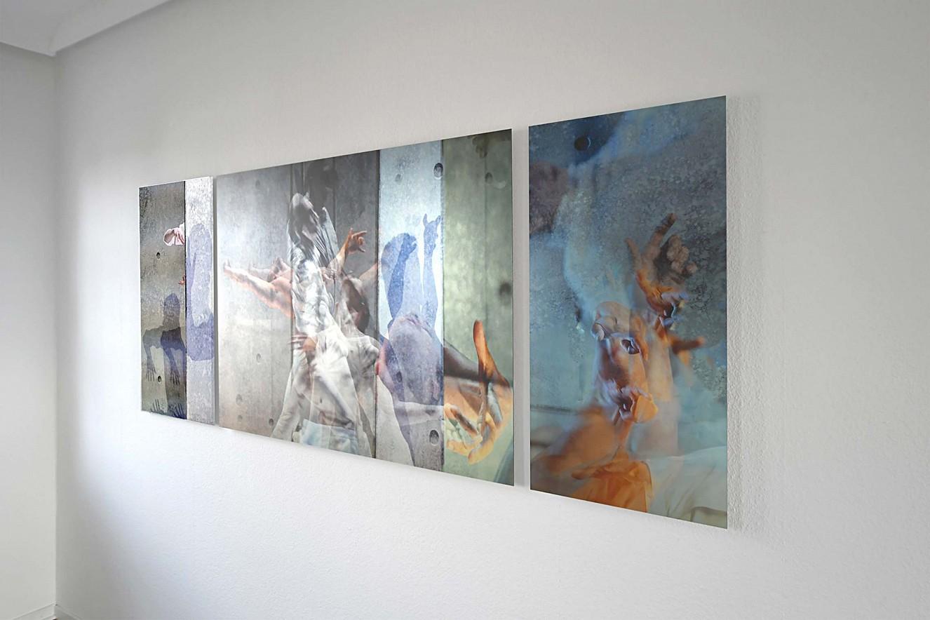 Riven in Time Triptychon   90x50cm, 90x130 cm, 90x50 cm  Fine Art Print Metallic auf Aludibond