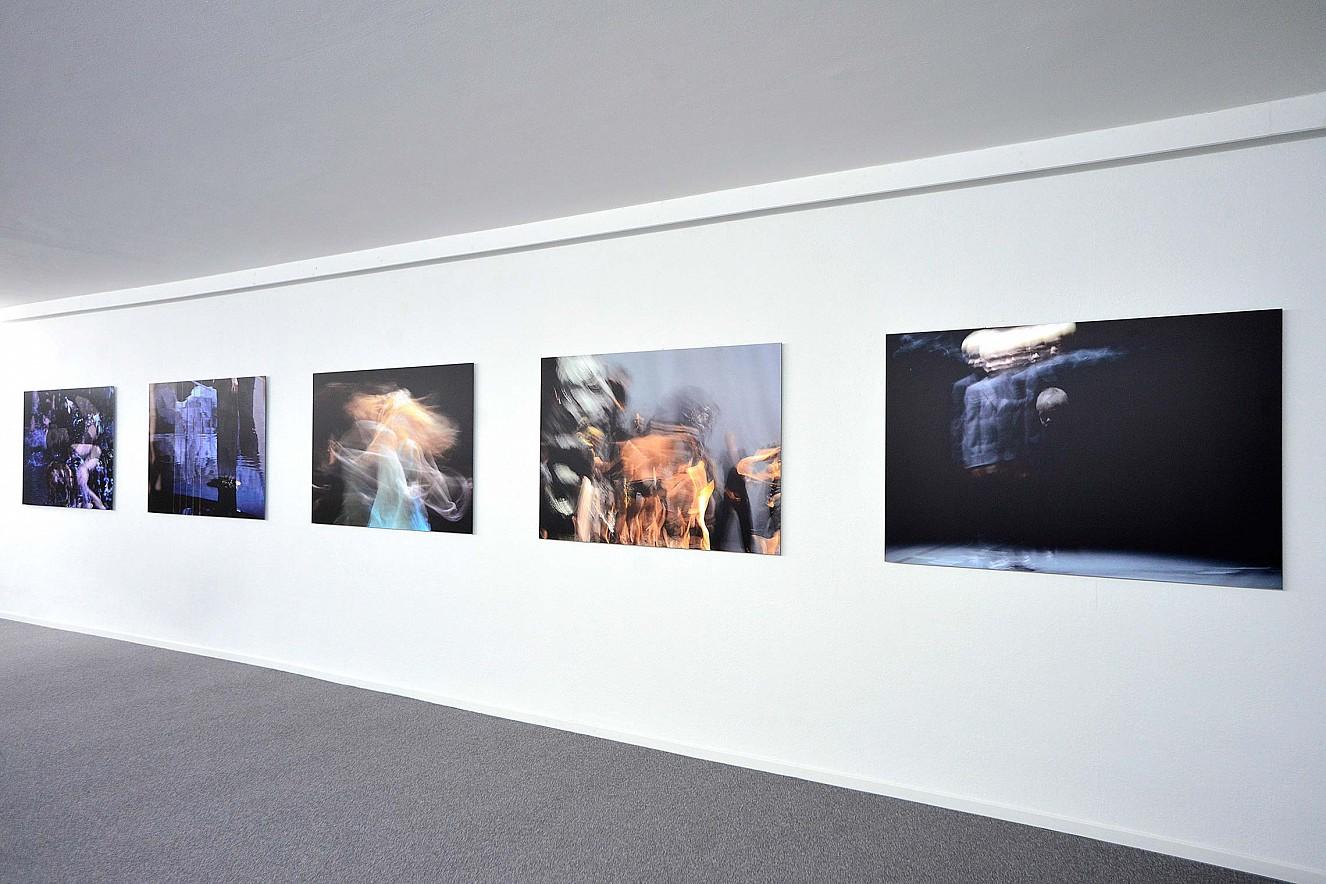 Tanz&Tod  Werkserie Orfeo, je 100x145 cm  Ausstellung, Galerie Karin Melchior, Kassel