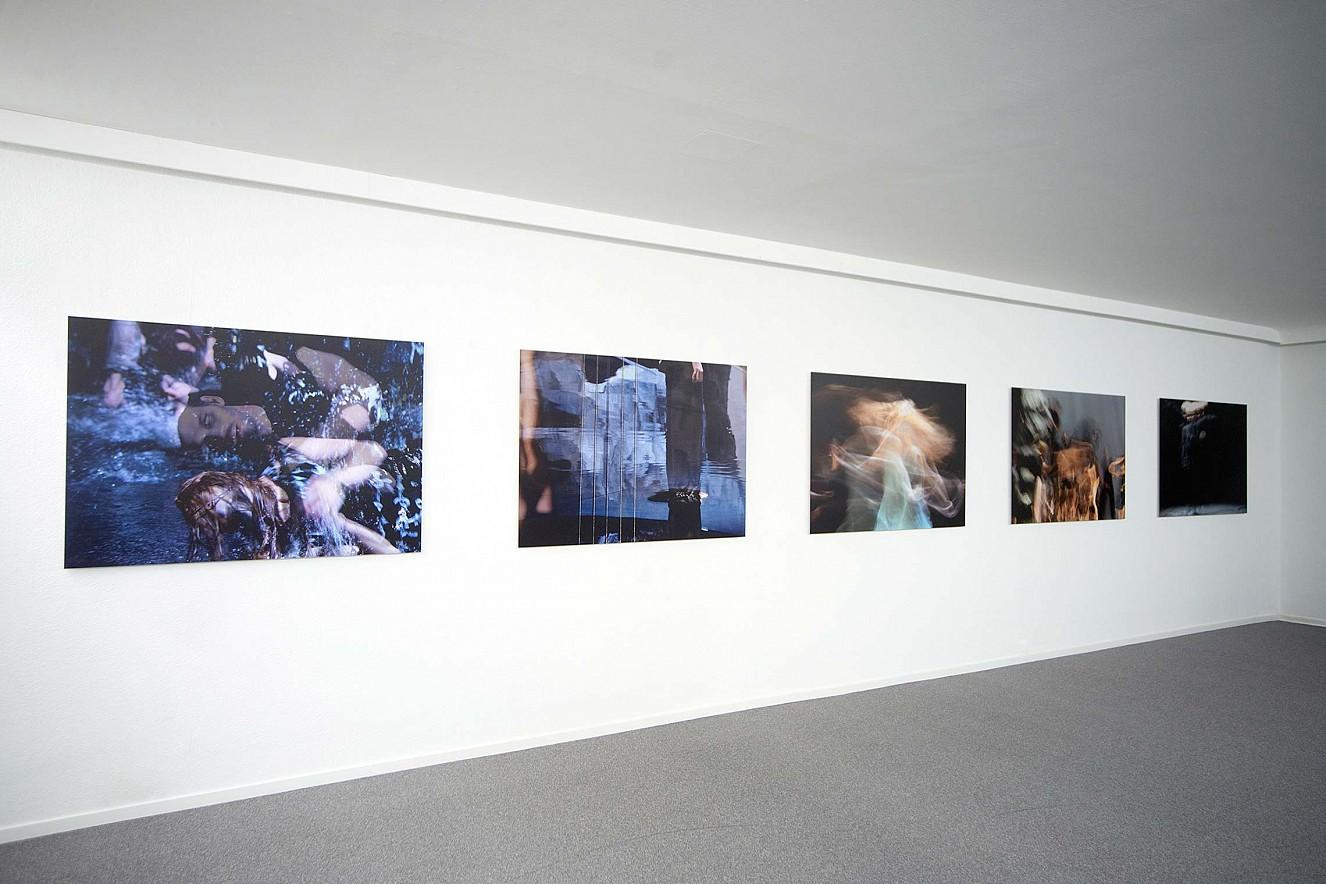 Tanz&Tod  Werkserie Orfeo, je 100x145 cm  Ausstellung Galerie Karin Melchior, Kassel