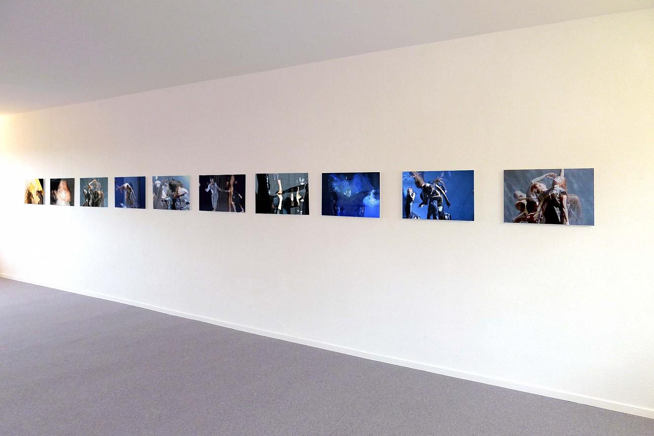 Tanz&Tod  Werkserie Orfeo, je 40x60 cm  Ausstellung Galerie Karin Melchior, Kassel