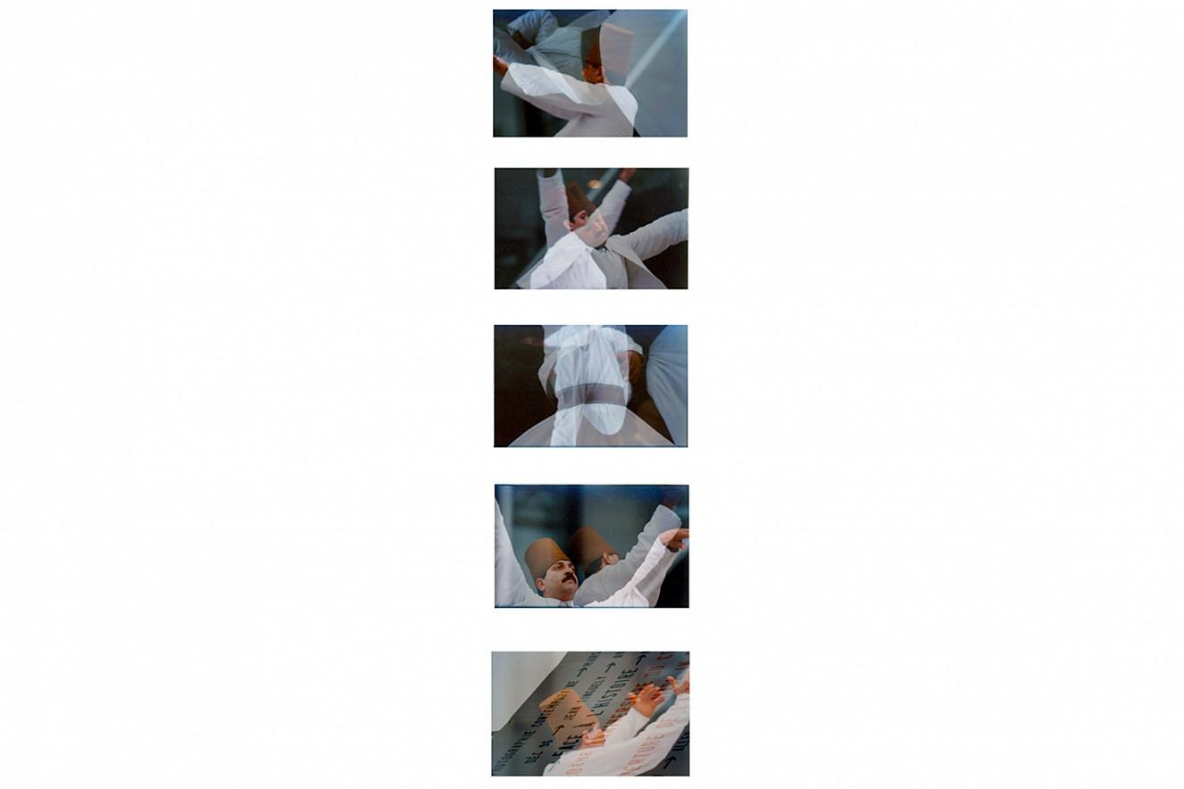 Derwische Sequenz  Videostills aus 2x3 m Videoprojektion  1999/2019
