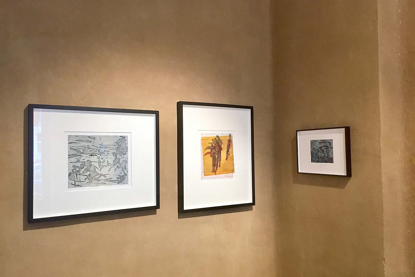Badende I und II und nach Rilke  Kaltnadel-und Aquatinta Radierungen  Ausstellung Galerie Gondwana, Berlin