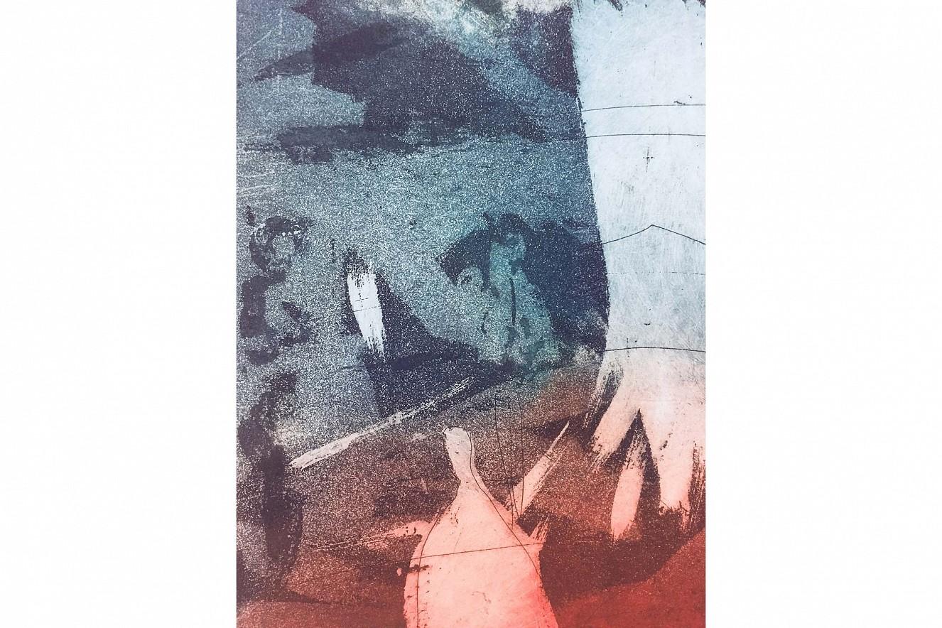 Badende III  40x50 cm, gerahmt, auf Bütten  Kaltnadel-und Aquatinta Radierungen