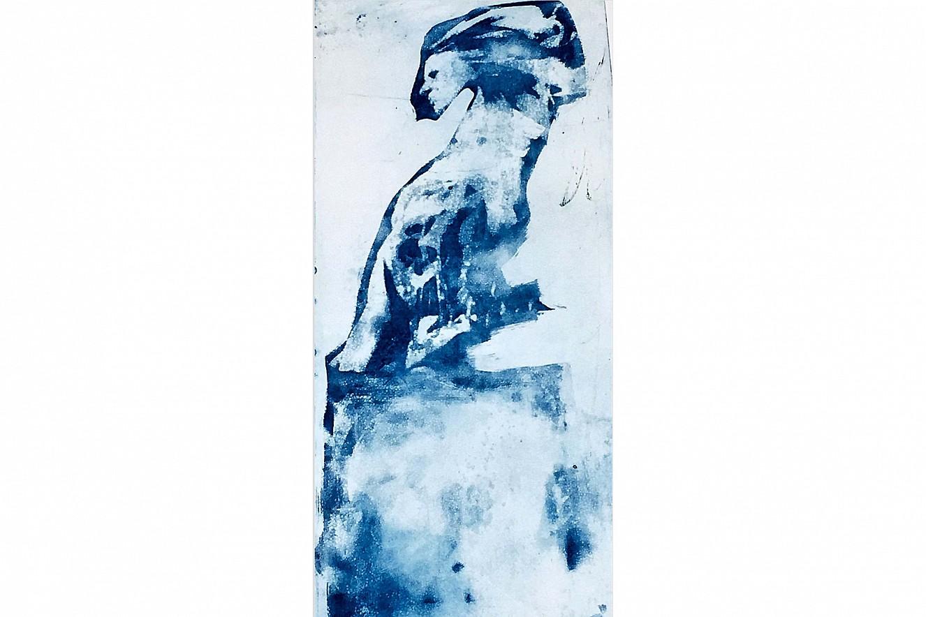 Wildes Mädchen  100x50 cm, gerahmt, Aquatinta   Radierung auf Torchon, im Rahmen