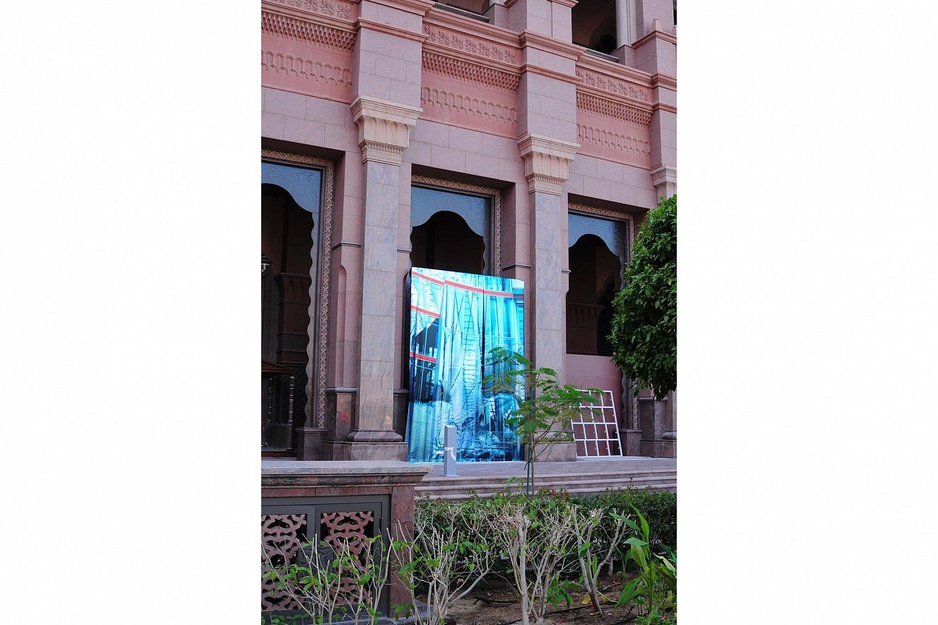 Blend, Outdoor Exhibition  5x3m, three pieces, Fine Art print metallic  Beyond Section, Art Abu Dhabi, Emirates Palace,