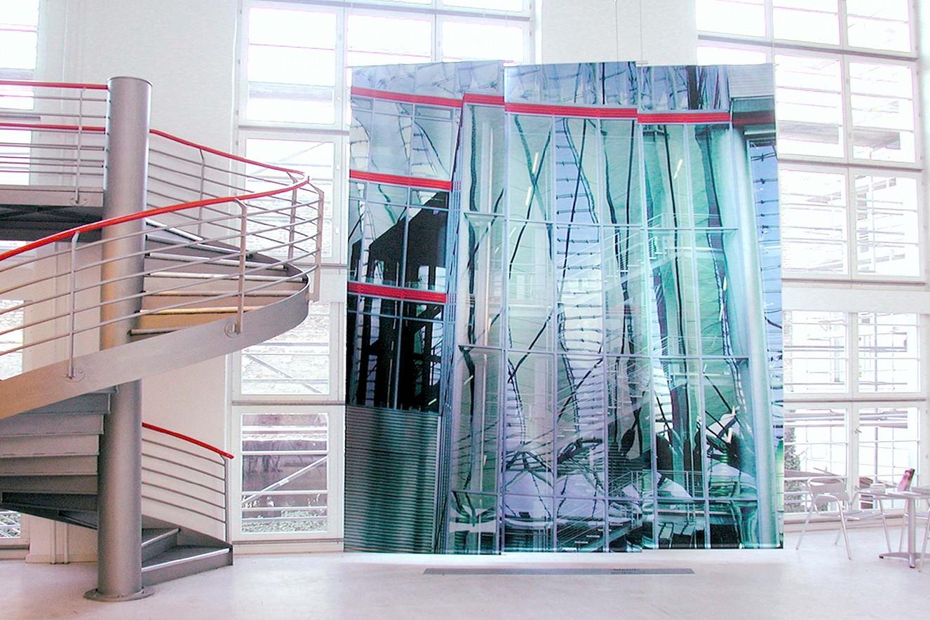 Blend, Exhibition View  5x3m, Fine Art print metallic  das foto GmbH, photo factory & Lab, Berlin