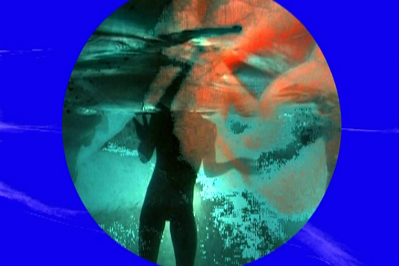 Liquid Light  Videoprojektion aufs Wasser, Sound  Liquidrom Therme, Berlin