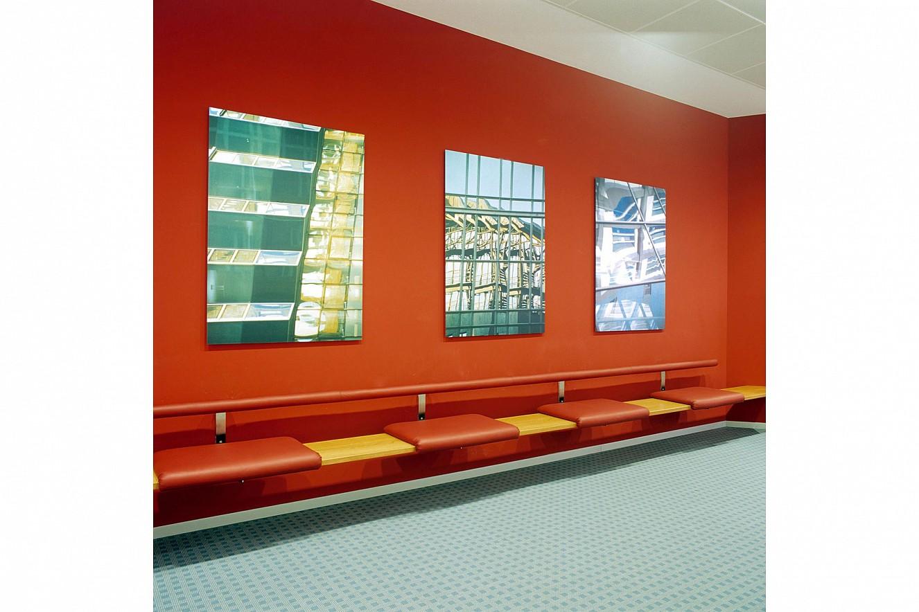 Residences III- V  Fine Art Print metallic on Aludibond,  each 90x130 cm, 2001