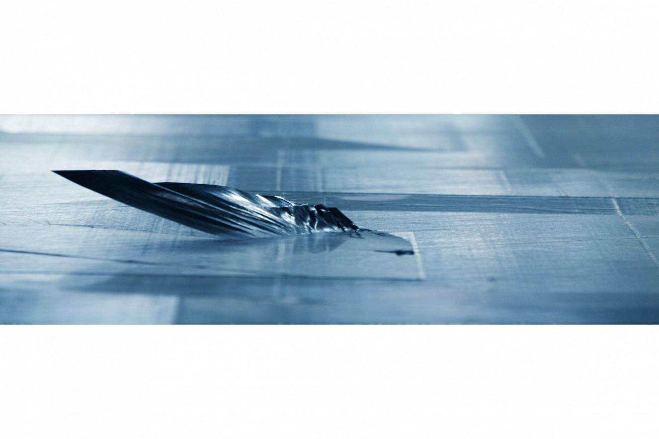 Tapelayer  Motiv Schliffe, Photo on metal,  76x235 cm, CFK Valley, Stade
