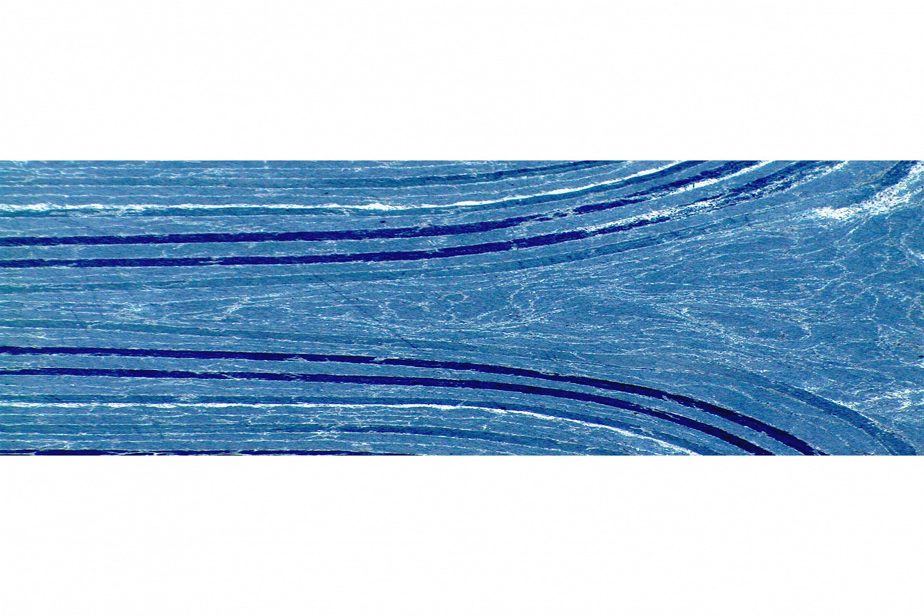 Curved  Motiv Schliffe, Photo on metal,  76x235 cm, CFK Valley, Stade