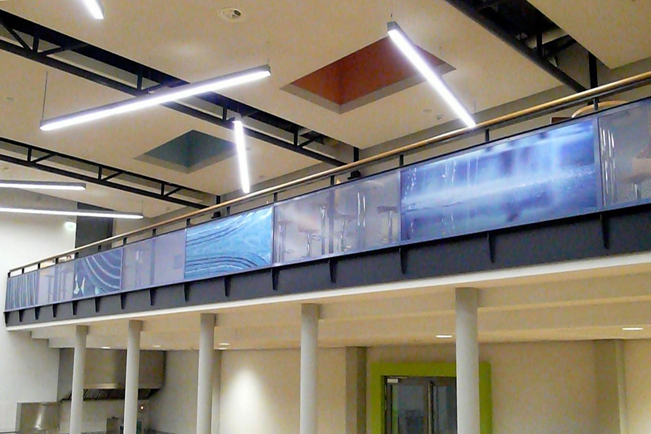 Schliffe - CFK Valley  Gallery Mensa Universiiy campus  Photos on metal, each 76x235 cm, 5 plates