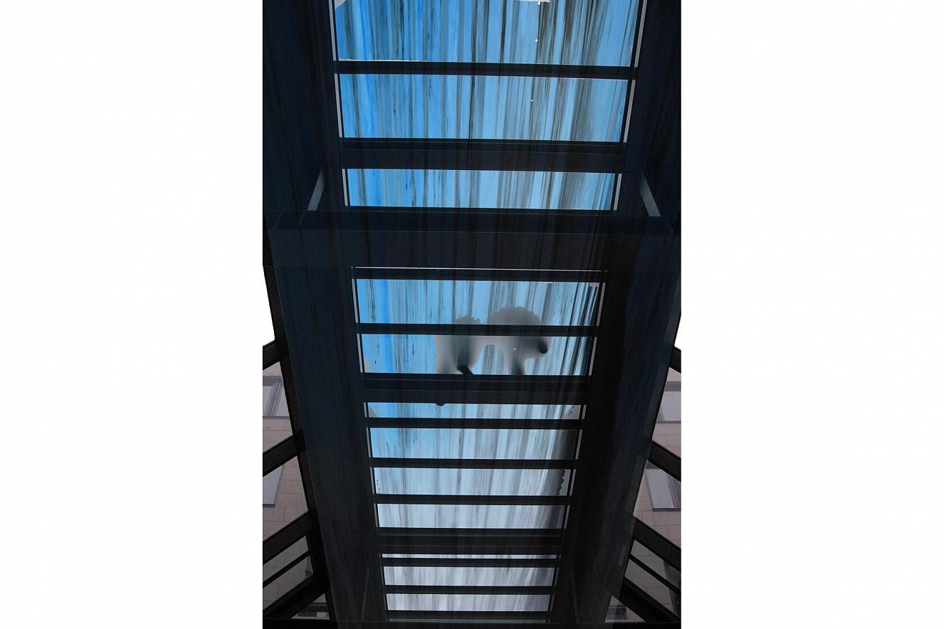 Swarm - Swimmer - Streams  Photos on glass windows, outdoor Bridge,  ca. 28 qm, Berliner Wasserbetriebe