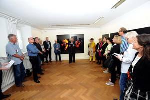 Foto der Ausstellung und Vortrag ©V.Oehl