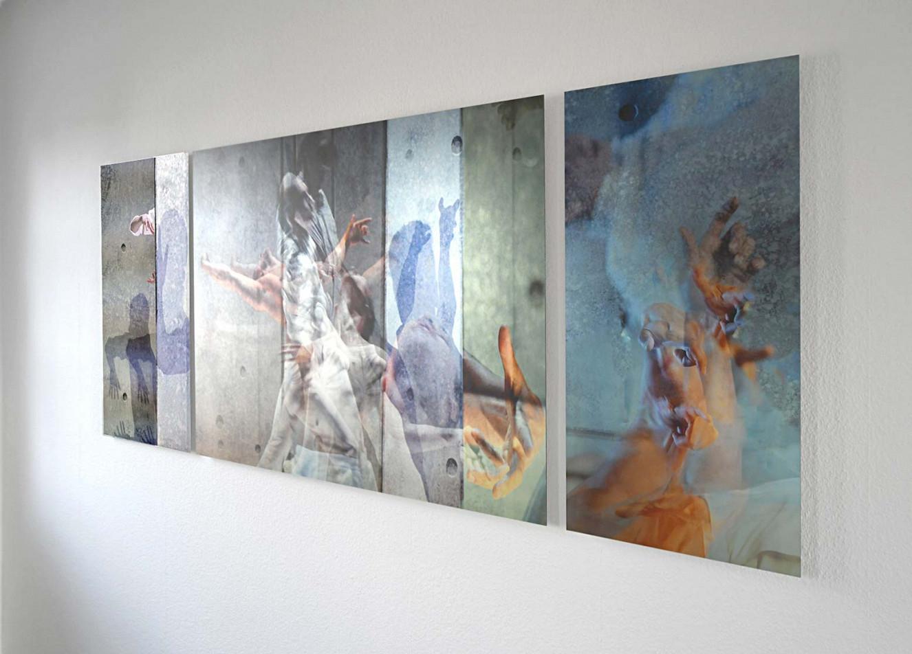 Riven in Time, Triptychon 90x70 und 90x130cm, Fine Art print auf Aludibond